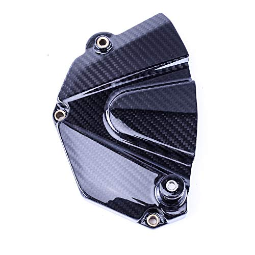 Bestem Carbon Fiber Sprocket Cover Chain Case Cover Twill Weave for 2006-2018 Yamaha R6