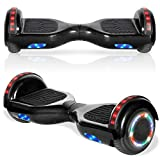 """cho 6.5"""" inch Hoverboard Electric Smart Self Balancing Scooter with Built-in Wireless Speaker LED Wheels and Side Lights Safety Certified"""
