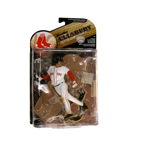 McFarlane Toys MLB Sports Picks Series 25 (2009 Wave 2) Action Figure Jacoby Ellsbury (Boston Red Sox) White Jersey (Red Sox Nascar)