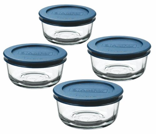 Set of 4 Anchor Hocking Classic Glass Food Storage Containers with Lids $6.96