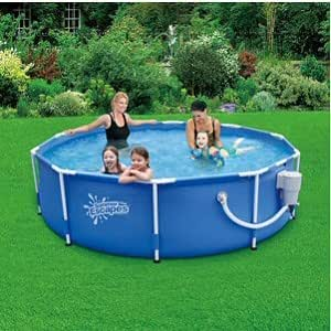 round frame pool 10 39 x 30 with 580 gph skimmerplus filter pump toys games. Black Bedroom Furniture Sets. Home Design Ideas