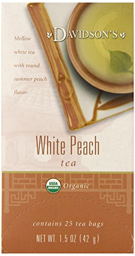 Davidson's Tea White Peach, 25-Count Tea Bags (Pack Of 6)