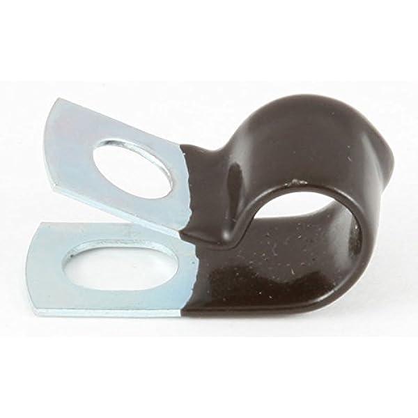 "- 3//8/"" /& - 1//4/"" Black Vinyl Cushion Clamp Galvanized Steel Made in USA 50 50"