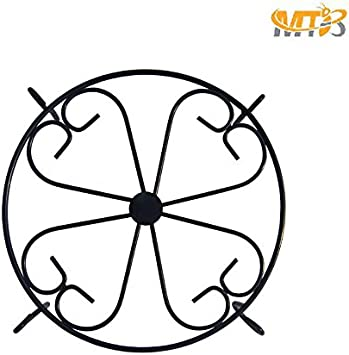 Also Sold as Pack of 6 ,Flooring Stand Metal Flower Plant Pot Display Stand MTB Plant Stand 10 Black Pack of 1
