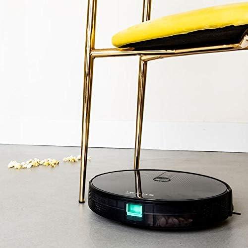 IKOHS NETBOT S18 Robot Aspirateur 4 en 1 avec Mapeo et App, puissance de succion, navigation intelligente, capteurs anti-collision et anti-chute, compatible Alexa, Google Home, WiFi, 220-240 V (Noir) - Home Robots
