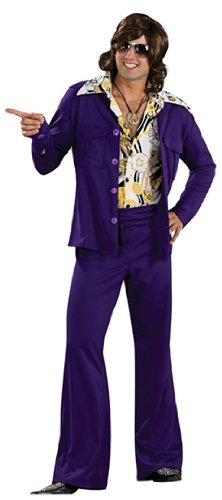 70's Leisure Suit Costume (Rubie's Costume 60's Revolution Men's Leisure Suit, Purple, One Size Costume)