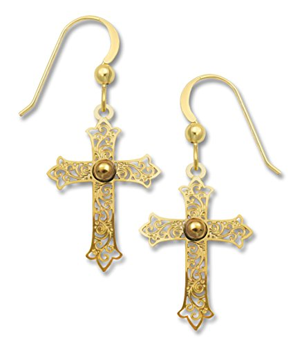 Sienna Sky Goldplated Filigree Cross Earrings 1803