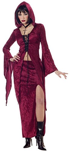 60s Costumes Guys (Sexy Gothic Maiden of Darkness Adult Women Costume)