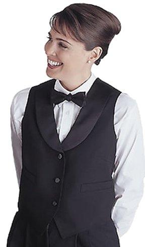 (Edwards Garment Women's Fully Lined Black Satin Shawl Vest, Black, XX-Large)