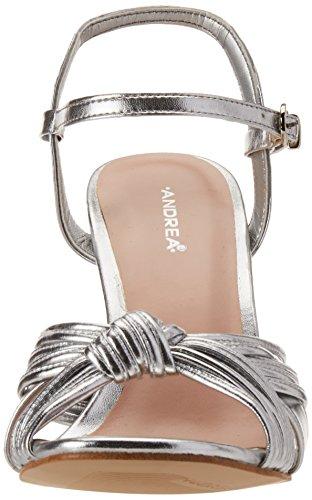 para de 2451848 Mujer Zapatos Andrea Plata Tacón wRpqSwcz