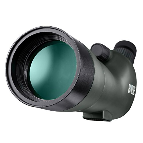 BNISE Spotting Scope - FMC Optics - 20-60x60 Zoom Monocular Waterproof Telescope - With Tripod and Case for Hunting, Camera and Phone Photography - App Eyeglass Finder