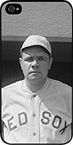 Babe Ruth-Black and White- Hard Black Plastic Snap - On Case-Apple Iphone 4 - 4s - Great Quality!