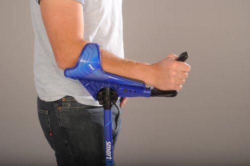 Smartcrutch Adjustable Forearm Crutches Black 1 Pair