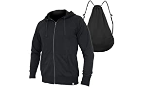Quikflip 2-in-1 Reversible Backpack Hoodie (As Seen on SHARK TANK) Unisex Full-Zip Hero Hoodie - Black, L