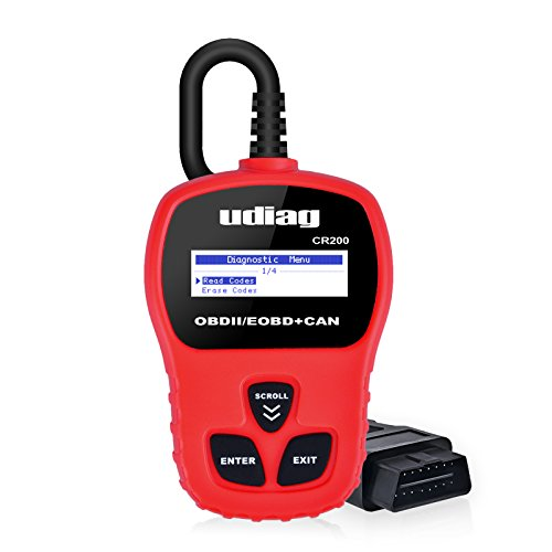 udiag OBD2 Scanner, CR200 OBD II Fault Car Engine Code Reader CAN Universal Diagnostic Scan Tool - Red by udiag