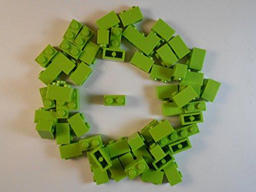 LEGO 1X2 LIME GREEN BRICKS LOT OF 50. BRAND NEW!