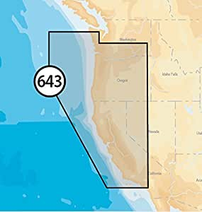 Navionics Platinum Plus 643P+ California and Oregon Marine Charts on SD/MSD