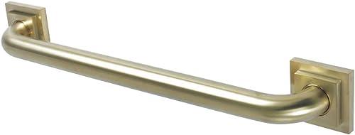 Kingston Brass DR614187 Claremont 18 Decorative Grab Bar, Brushed Brass