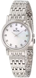 Bulova Women's 96P135 Diamond Dial Bracelet Watch