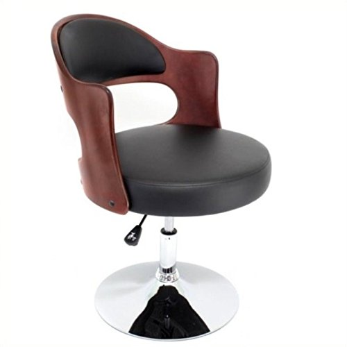 LumiSource Cello Chair, Cherry/Black