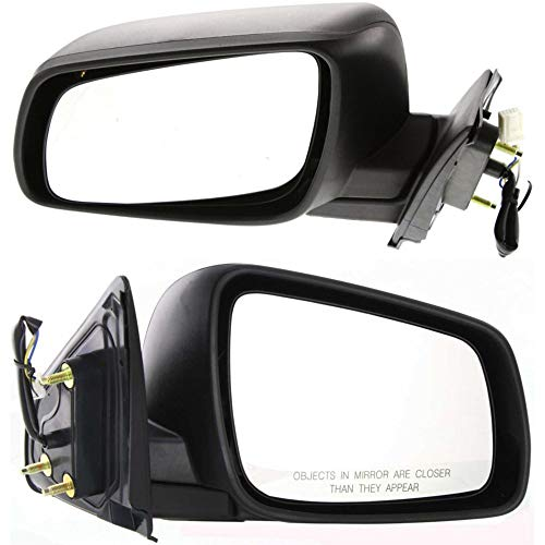 - Power Mirror compatible with Mitsubishi Lancer 08-14 Right and Left Side Manual Folding Non-Heated Textured Black