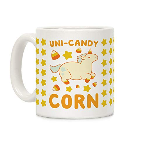 LookHUMAN Uni-Candy Corn White 11 Ounce Ceramic Coffee Mug -