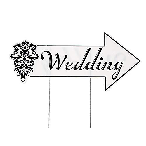 Fun Express - Wedding Directional Sign for Wedding - Party Decor - General Decor - Yard Signs - Wedding - 1 Piece