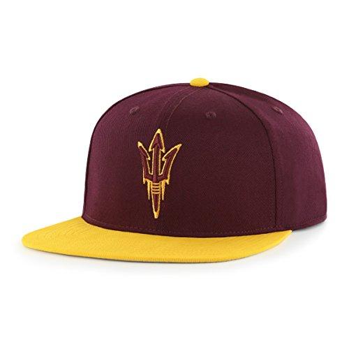 NCAA Arizona State Sun Devils Adult Gallant Ots Varsity Snapback Adjustable Hat, One Size, Dark Maroon