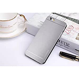 SHOUJIKE Metal and Silicone Material Notepad Model Shell for iPhone 6 (Assorted Colors) , Silver