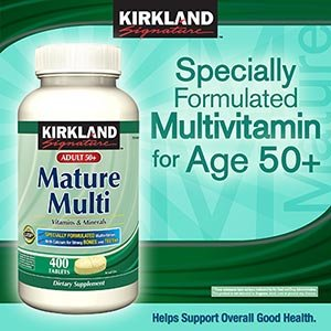 Kirkland Signature Mature Adults 50+ Multi Vitamins & Minerals, 400 Tablets