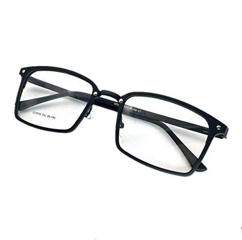 Everbeauty Men's Retro Square Frame Prescription Hingeless - Eyeglasses Hingeless