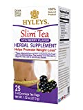 Hyleys Slim Tea Acai Berry - 25 Tea Bags (GMO Free, Gluten Free, Dairy Free, Sugar Free and 100% Natural)