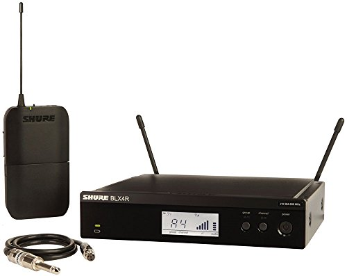 Shure BLX14R Wireless Guitar Rack Mount System with WA302 Guitar Cable, H8