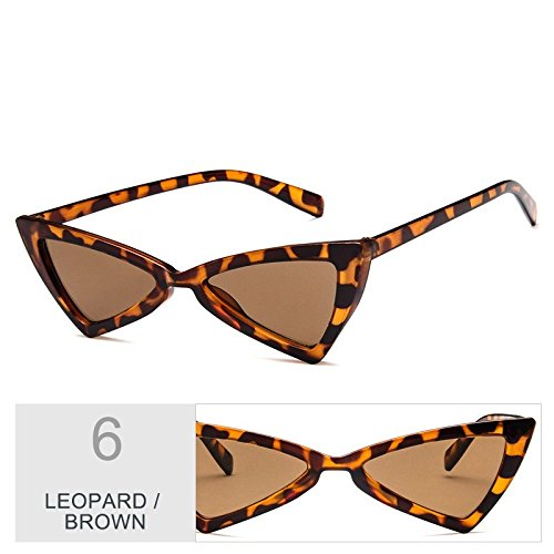 Gato Sol Uv400 Mujeres BROWN Gris De De Blanco Negro TIANLIANG04 Gafas De Vintage Atrás Ojo Mujer LEOPARD Gafas De Del Señor Sol Gafas wT04pX