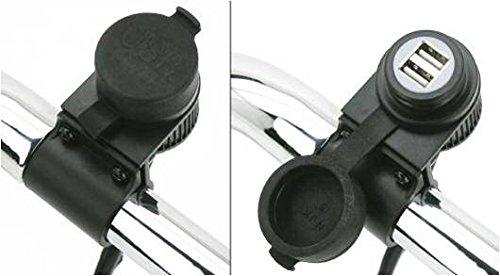 Cargador USB para manillar de moto Harley Davidson, Yamaha ...