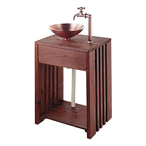 木製ガーデンシンク 624-982 庭園商材 水栓 住宅設備 水廻り 金具 カクダイ KAKUDAI 吉KD B078GG7Z9H