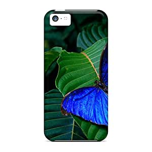 Cute Appearance Covers/MZs30815tGhg Blue Morpho Amathonte Cases For Iphone 5c