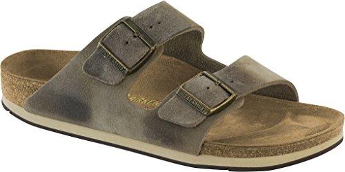 - Birkenstock Unisex Arizona Sport Taupe Waxed Suede Sandal