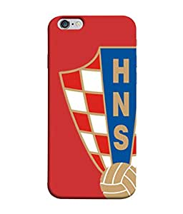 ColorKing Football Croatia 07 Red shell case cover for Apple iphone 6 / 6s