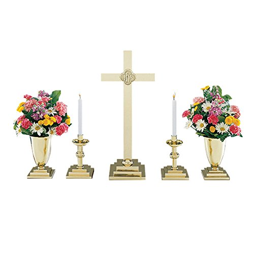 Christian Brands Church Supply SB1900-19SET 5-Piece Square Base Altar Set by Christian Brands Church Supply