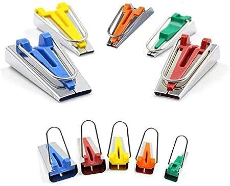 cinta al bies 6 mm, 9 mm, 12 mm, 18 mm, 25 mm Juego de 5 cintas al bies herramienta para coser y hacer manualidades