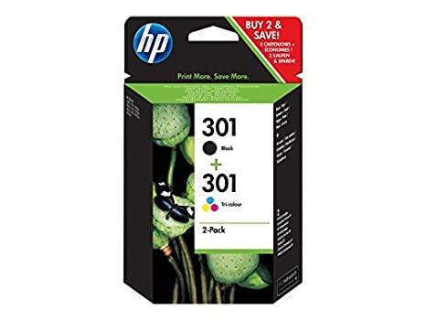HP 301 Cartuccia Originale Getto d'Inchiostro, Nero + Tricromia Hewlett Packard N9J72AE Cartucce Ink