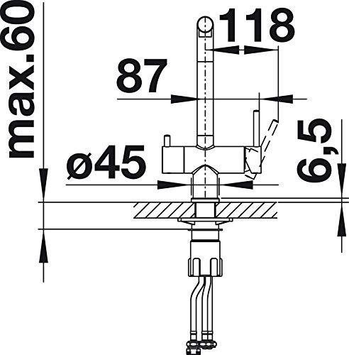 dise/ño de tartufo Grifo de cocina BLANCO FONTAS II 523 136
