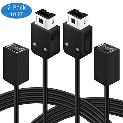 Vegkey SNES Mini Nes Classic Controller Extension Cable,3M/10FT Extension Power Cord for Super Nintendo SNES Classic Edition Controller (2017) and Mini NES Classic Edition (2016) -2Pack