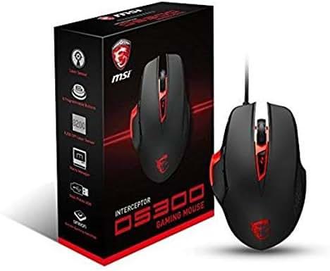 MSI Interceptor DS300 Programmable Ergonomic Laser Gaming Mouse (S12-0401290-D22)