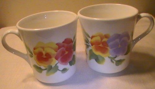Corning Summer Blush Pansies Mugs - One (1) Cup