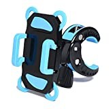 Bike Mount,iQbe Universal Smartphone Bike Mount Holder with 360 Dgree Rotate Fits any Smart Phone: iPhone 6 6S Plus 5S 5C 4S, Samsung Galaxy S5 S4 S3 Edge HTC,LG,GPS (Blue)