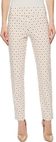 Krazy Larry Women's Pull-On Ankle Pants Pink/Lime Diamonds 16 28 28 - Diamond 26in Pattern