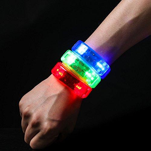 Ezerbery 6 pcs Multicolor LED Light Up Flashing Wristbands LED Light Bracelet For Parties Birthdays Events by Ezerbery (Image #4)