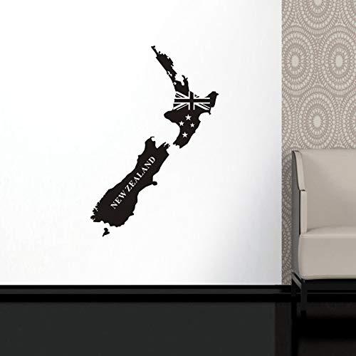 zxddzl Mapa de Nueva Zelanda Sticker Decal Posters Cafetería ...